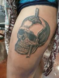 black and grey phineas gage piece by end willows from chalice