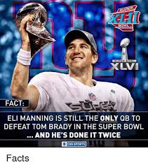 superp bowl super bowl uvi nfl fact eli manning is still the only qb