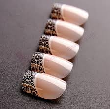 french leopard print false nails different types of nail tips