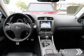 lexus sport car interior showdown 2010 lexus is f versus 2010 lexus is350 with f sport