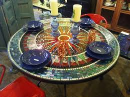 Mosaic Dining Room Table Elegant Mosaic Dining Table 55 For Home Improvement Ideas With
