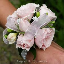 pink corsage build your own spray prom corsage from copper flowers