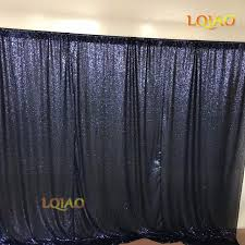 Navy Blue Curtains Lqiao 10x10 Navy Blue Curtains Sequin Backdrop Wedding Photo
