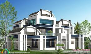 round roof house plan kerala home design and floor plans rounded