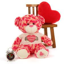 big valentines day teddy personalized 2 ft valentines teddy sassy big