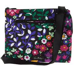 vera bradley lighten up rfid compartment crossbody bag