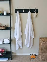 master bathroom update new towel hooks