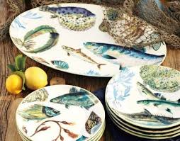 42 best dinnerware fishy images on ceramic plates