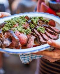 cuisine barbecue winter barbecue of venison with green sauce borough market