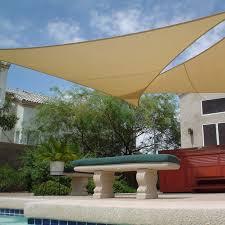 Wind Sail Patio Covers by Amazon Com Apontus Sun Shade Sail Canopy Outdoor Patio 16 U0027x16