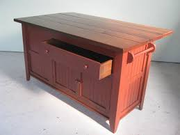 custom pine kitchen island barn red by ecustomfinishes reclaimed