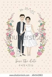 Groom And Groom Wedding Card Bride Groom Cute Vector Wedding Card Stock Vector 214113667