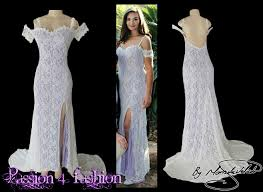 white and lavender long lace matric dance dress with a sweetheart