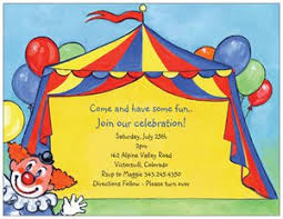 circus invitations vistaprint