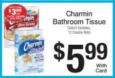 Charmin Bathroom Kroger Charmin Toilet Paper For 0 23 Roll