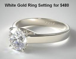wedding ring white gold what s the best engagement ring metal in comparison
