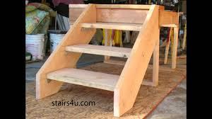 2 Step Stair Stringer by Bracket Stairway Design Basics Stair Building Youtube