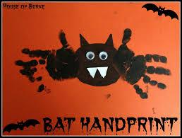 handprint halloween craft house of burke classic halloween print crafts