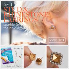 diy earring studs stud rhinestone earrings diy by trinkets in bloom