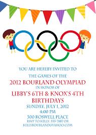 Birthday Invitation Card Kids Olympic Birthday Invitation By Netsyandcompany On Etsy 18 00