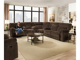 Simmons Sectional Sofas Simmons Upholstery 50570 Casual Reclining Sectional Sofa With