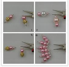 4 Ideas For Jewelry Making - step by step instructions for how to make a pearl necklace the