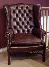 Straight Back Chairs Back Georgian Wing Chair Straight Legs
