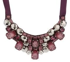 sted necklace as is joan riv ers encru sted fabric bib necklace w ext