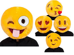 emoji face comedy adults plush emiticon mask stag hen party fancy