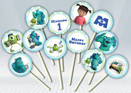 monsters inc cake toppers inc cupcake toppers