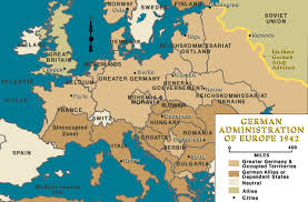 map of germany in europe german administration of europe 1942