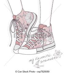 athletic shoes illustrations and clip art 5 402 athletic shoes
