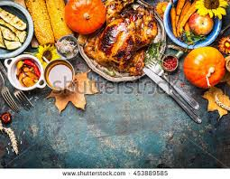 festive thanksgiving day food background roasted stock photo