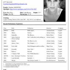 Theatre Resume Template Word Cover Letter Corporate Recruiter Job Description Actor Resume