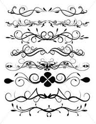 divider lines flourish swirls and ornamental borders by tuitrading