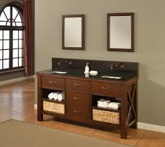 60 Bathroom Vanity Double Sink Double Bathroom Vanities With Open Shelves Home Bathroom