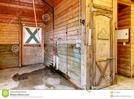 interior of shed with horse stables stock image image 33735955