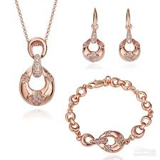 rose gold necklace earrings images 18k rose gold necklace jpg
