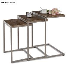 Wohnzimmertisch Felge Ikayaa 3er Set Beistelltisch Couchtisch Set Mit Metall Rahmen