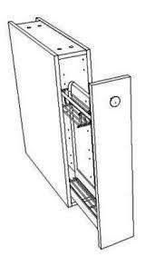 casier bouteille cuisine integree meuble bas coulissant largeur 15 cm pour le rangement des