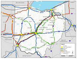Athens Ohio Map by Ohio Intercity Bus Needs Study