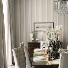 Wallpaper Ideas For Dining Room Eaton Stripe Dove Grey Seaspray Blue Wallpaper Sag Harbor Chic