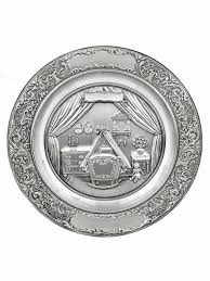 pewter birth plates personalized traditional baby birth plate german toasting glasses