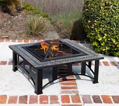 slate fire pit table sun tastic square slate fire pit garden inspiration pinterest