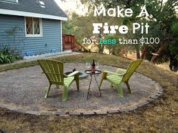 we made a fire pit our cone zone
