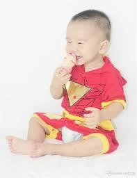 Halloween Costumes Iron Man Iron Man Costume Halloween Costume Infant Baby Romper Jumpsuit 0