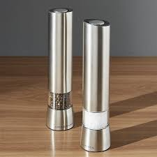 electric salt pepper mill grinder with light electric salt and pepper grinder crate and barrel