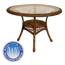 outdoor wicker dining table large round wicker dining table patio furniture