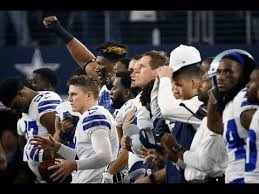 dallas cowboys vs los angeles chargers national anthem protests