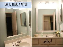 100 how to frame a bathroom mirror diy frame your bathroom